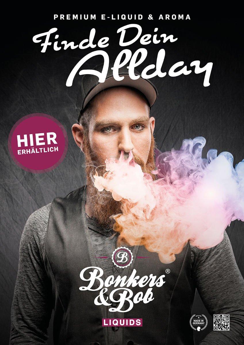 Bonkers & Bob E-Liquids & Aromen für E-Zigaretten Kampagne Dampfshops